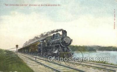 tra006568 - Overland limited , Chicago, IL USA Train, Trains, Locomotive, Old Vintage Antique Postcard Post Card