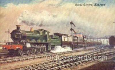 tra006575 - Central Express Train, Trains, Locomotive, Old Vintage Antique Postcard Post Card