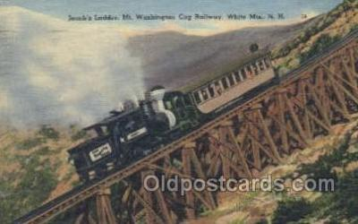 tra006576 - Jacobs Ladder, White Mts, NH USA Train, Trains, Locomotive, Old Vintage Antique Postcard Post Card