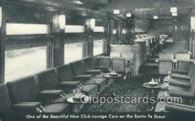 tra006581 - Santa Fe. The Scout, Los Angeles, CA USA Train, Trains, Locomotive, Old Vintage Antique Postcard Post Card