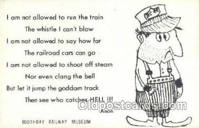 tra006587 - Train, Trains, Locomotive, Old Vintage Antique Postcard Post Card