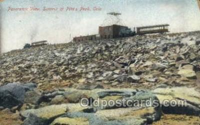 tra006588 - Pikes Peak, CO USA Train, Trains, Locomotive, Old Vintage Antique Postcard Post Card