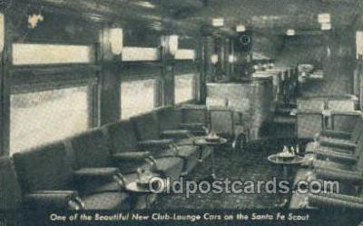 tra006595 - Santa Fee, The Scout, Los Angeles, CA USA Train, Trains, Locomotive, Old Vintage Antique Postcard Post Card