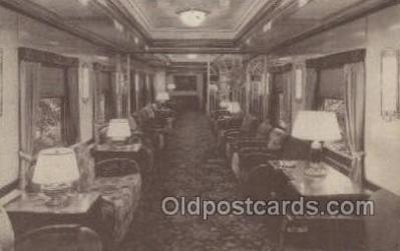 tra006606 - Lounge Car, St Louis, MI USA Train, Trains, Locomotive, Old Vintage Antique Postcard Post Card