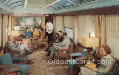 tra006608 - Sun Lounge Silver meteor, NY, FL USA Train, Trains, Locomotive, Old Vintage Antique Postcard Post Card
