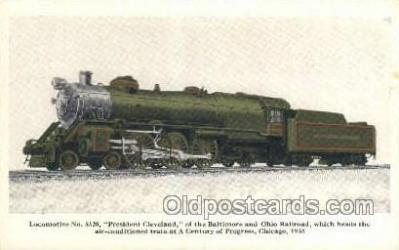 tra006611 - President Cleveland, Chicago, IL USA Train, Trains, Locomotive, Old Vintage Antique Postcard Post Card