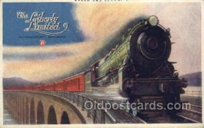 tra006612 - Liberty Limited, PA USA Train, Trains, Locomotive, Old Vintage Antique Postcard Post Card