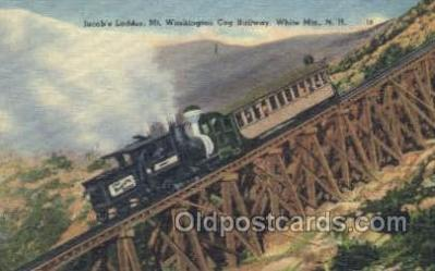 tra006618 - Jacobs Ladder, White Mts, NH USA Train, Trains, Locomotive, Old Vintage Antique Postcard Post Card