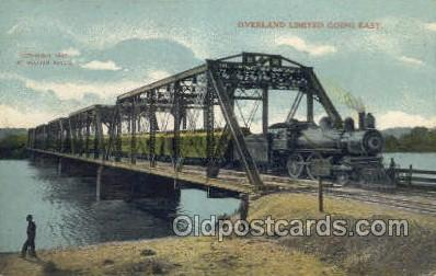 tra006624 - Overland Limited, USA Train, Trains, Locomotive, Old Vintage Antique Postcard Post Card