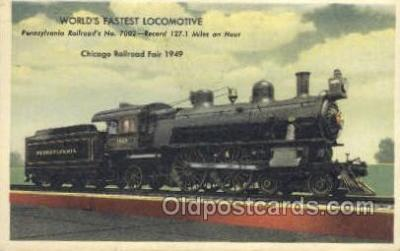 tra006628 - Pennsylvania Railroad No 7002, Chicago, IL USA Train, Trains, Locomotive, Old Vintage Antique Postcard Post Card