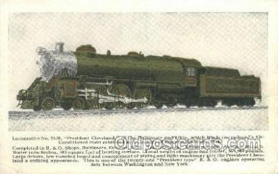tra006644 - Locomotive no5320 President Cleveland, Chicago, IL USA Train, Trains, Locomotive, Old Vintage Antique Postcard Post Card