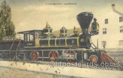 tra006645 - Locomotive Glenbrook, USA Train, Trains, Locomotive, Old Vintage Antique Postcard Post Card