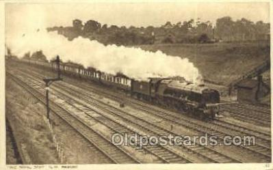tra006646 - The Royal Scot, England Train, Trains, Locomotive, Old Vintage Antique Postcard Post Card