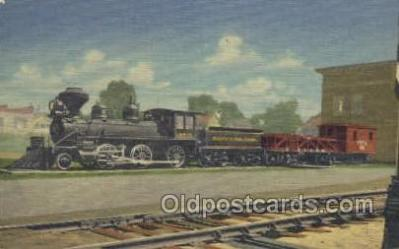 tra006656 - Memorial Engine 3 spot, Two Harbors, MINN USA Train, Trains, Locomotive, Old Vintage Antique Postcard Post Card