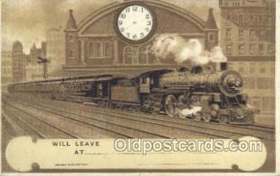 tra006676 - Train, Trains, Locomotive, Old Vintage Antique Postcard Post Card
