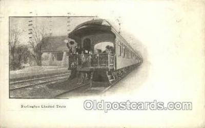 tra006679 - Burlington limited, USA Train, Trains, Locomotive, Old Vintage Antique Postcard Post Card