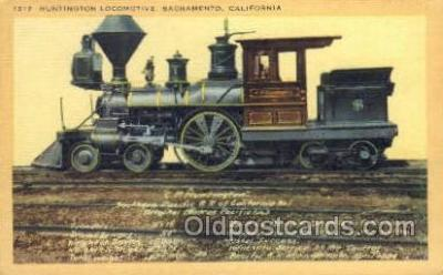 tra006680 - Huntington Locomotive, Sacramento, CA USA Train, Trains, Locomotive, Old Vintage Antique Postcard Post Card