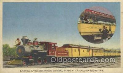 tra006684 - Deadwood Central Train, Chicago, IL USA Train, Trains, Locomotive, Old Vintage Antique Postcard Post Card