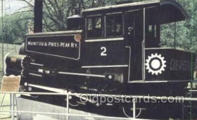 tra006691 - Cog Trains, Pikes Peak, CO USA Train, Trains, Locomotive, Old Vintage Antique Postcard Post Card