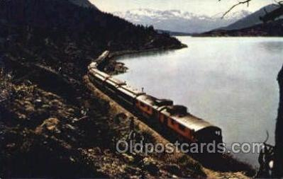 tra006726 - The White Pass  and Yukon RR Skirts, Lake Bennett, USA Train Railroad Station Depot Postcards Post Cards