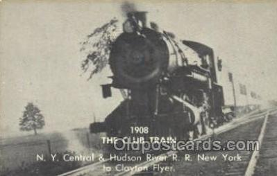 tra006730 - 1908 Club Train, Ny, New York, USA Train Railroad Station Depot Postcards Post Cards