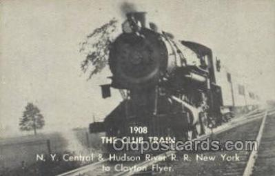 tra006732 - 1908 Club Train, NY, New York, USA Train Railroad Station Depot Postcards Post Cards