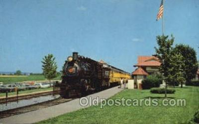 tra006736 - The Strasburg RR, Strasburg, PA, Pennsylvania, USA Train Railroad Station Depot Postcards Post Cards