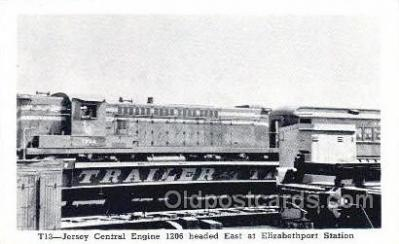 tra006746 - Jersey Central Engine Train Railroad Station Depot Postcards Post Cards