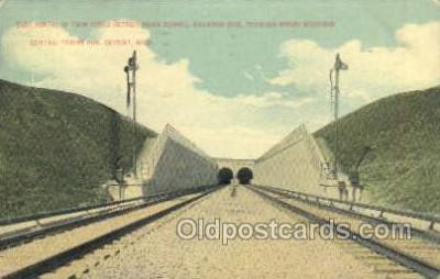 tra006759 - Detoir River Tunnel, Detroit, MI, Michigan, USA Train Railroad Station Depot Postcards Post Cards