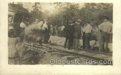 tra006776 - Wabash Valley Wreck, Kingsland, IN, Indiana, USA Train Railroad Station Depot Postcards Post Cards