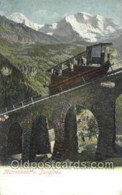 tra006777 - Murrenbahn U Jungfrau Train Railroad Station Depot Postcards Post Cards