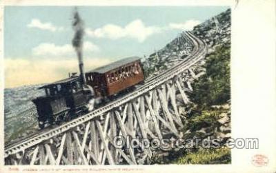 tra006778 - Jacbos Ladder, Mt Washington, USA Train Railroad Station Depot Postcards Post Cards