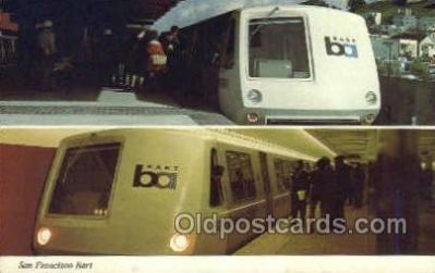 tra006779 - San Francisco BART, San Francisco, CA ,California, USA Train Railroad Station Depot Postcards Post Cards