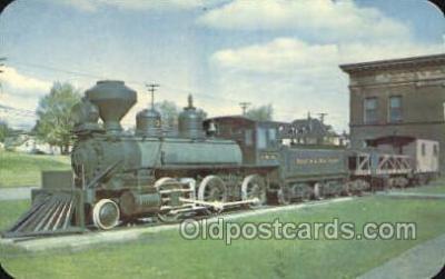 tra006785 - Three Spot Locomotive, Harbors , MN, Minnesota, USA Train Railroad Station Depot Postcards Post Cards