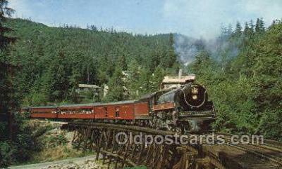 tra006795 - British Columbia 2860, Vancouver, BC, British Columbia Train Railroad Station Depot Postcards Post Cards