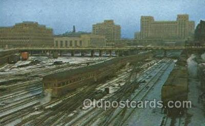 tra006798 - Broadway Limited, NY, New York, USA Train Railroad Station Depot Postcards Post Cards