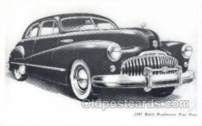 tra007003 - 1947 Buick Road master Four Door Automotive, Autos, Cards Old Vintage Antique Postcard Post Card