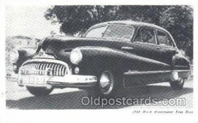 tra007012 - 1948 Buick Road master Four Door Automotive, Autos, Cards Old Vintage Antique Postcard Post Card