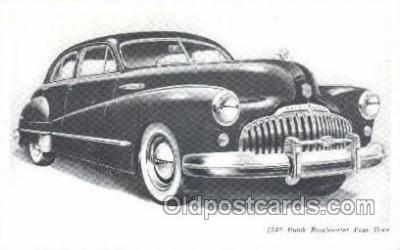 tra007015 - 1948 Buick Road master Four Door Automotive, Autos, Cards Old Vintage Antique Postcard Post Card