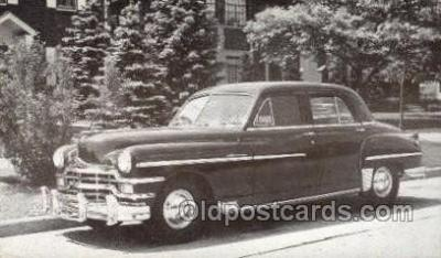 tra007065 - 1949 Chrysler Windsor 4 Door Sedan Automotive, Autos, Cards Old Vintage Antique Postcard Post Card