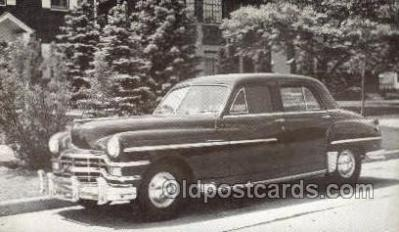 tra007067 - 1949 Chrysler Windsor 4 Door Sedan Automotive, Autos, Cards Old Vintage Antique Postcard Post Card