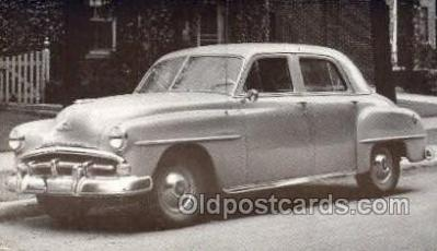 tra007068 - 1951 Plymouth Cranbrook 4 Door Sedan Automotive, Autos, Cards Old Vintage Antique Postcard Post Card