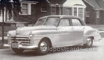 tra007070 - 1950 Chrysler Windsor 4 Door Sedan Automotive, Autos, Cards Old Vintage Antique Postcard Post Card