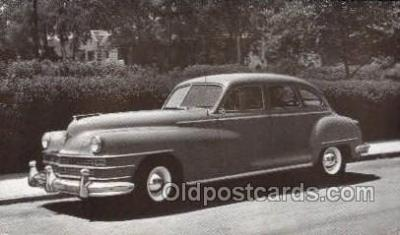 tra007073 - 1946 Chrysler Saratoga or New Yorker 4 Door Sedan Automotive, Autos, Cards Old Vintage Antique Postcard Post Card