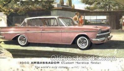 tra007079 - 1960 Ambassador Custom Hardtop Sedan Automotive, Autos, Cards Old Vintage Antique Postcard Post Card