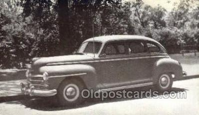 tra007087 - 1947 Plymouth 4 Door Sedan Automotive, Autos, Cards Old Vintage Antique Postcard Post Card