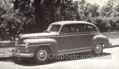 tra007090 - 1947 Plymouth 4 Door Sedan Automotive, Autos, Cards Old Vintage Antique Postcard Post Card