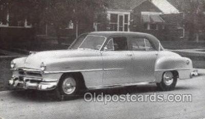 tra007093 - 1951 Chrysler Windsor 4 Door Sedan Automotive, Autos, Cards Old Vintage Antique Postcard Post Card