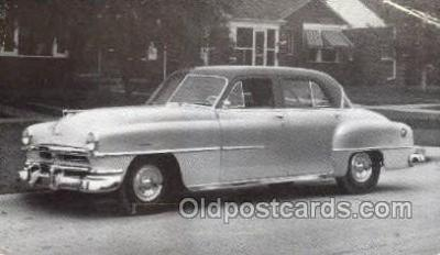 tra007095 - 1951 Chrysler Windsor 4 Door Sedan Automotive, Autos, Cards Old Vintage Antique Postcard Post Card
