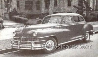 tra007096 - 1948 Chrysler Windsor 4 Door Sedan Automotive, Autos, Cards Old Vintage Antique Postcard Post Card